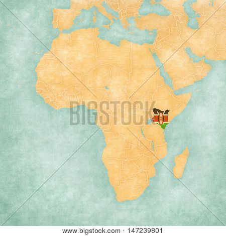 Map Of Africa - Kenya