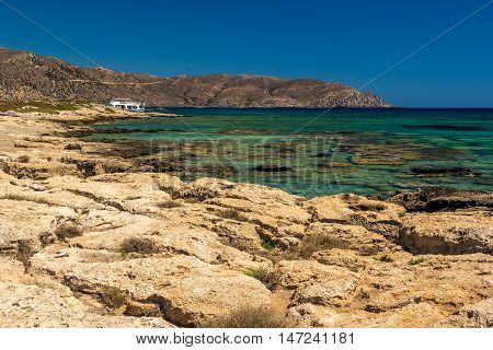 Crete, Greece: famous beach in Elafonisi or Elafonissi lagoon