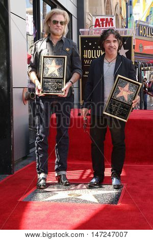 LOS ANGELES - SEP 2:  Daryl Hall, John Oates at the Hall & Oates Hollywood Walk of Fame Star Ceremony on Hollywood Boulevard on September 2, 2016 in Los Angeles, CA