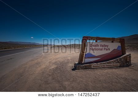 Death Valley National Park Sign United States