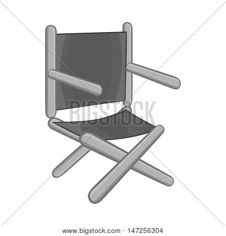 Directors chair icon in black monochrome style isolated on white background. Furniture symbol vector illustration