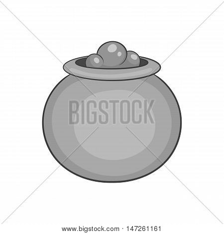 Boiler sorcerer icon in black monochrome style isolated on white background. Cooking symbol vector illustration