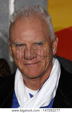 Malcolm McDowell at the World premiere of