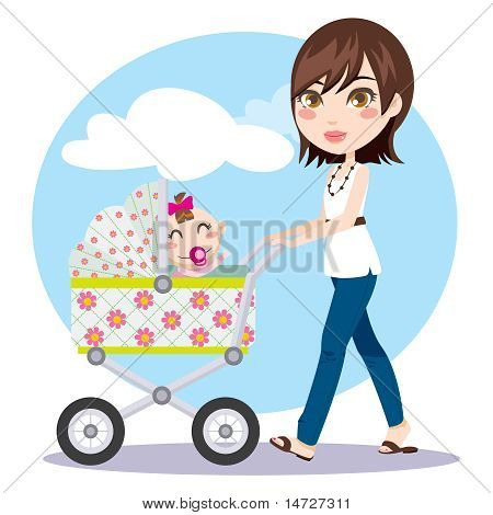Mother Walking