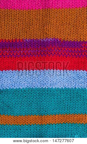 striped colorful wool texture handmade patten closeup macro blue red green yellow black white ornament slavonic