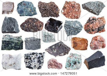 Collection Of Igneous Rock Specimens