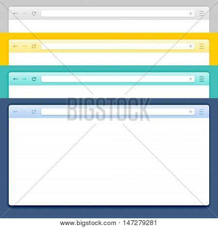 Abstract Design Vector Computer Browser