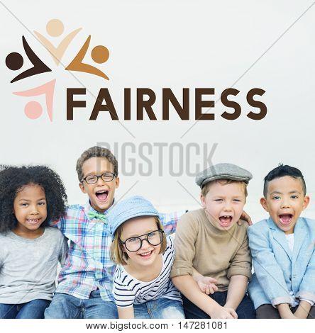 Fairness Kids Diversity Unity Togetherness Graphic Concept