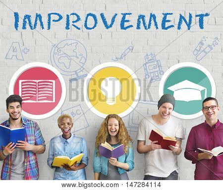 Improvement Developement Enhance Refine Growth Motivation Concept