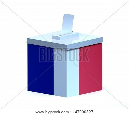 French Election Ballot Box