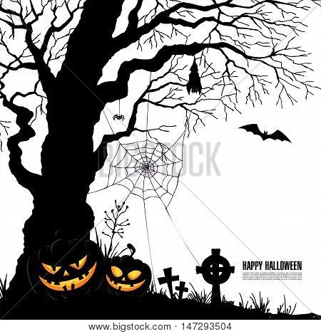 Happy Halloween. Halloween party. Vector illustration. Poster