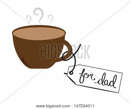 Hot Coffee Mocha Latte For Dad in Mug