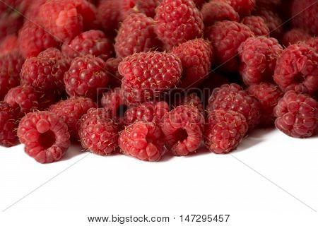Fresh and sweet rasberry isolated on white background