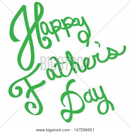 Green Happy Father's Day in Green Lettering