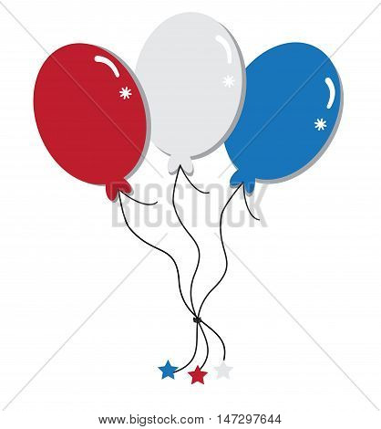 Red White and Blue Happy 4th of July Balloons