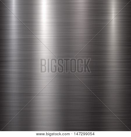 Abstract technology background with polished, brushed metal texture, chrome, silver, steel, aluminum for design concepts, web, prints, posters, interfaces. Vector illustration.