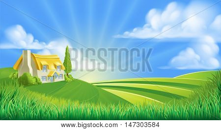 Cottage In Rolling Hills