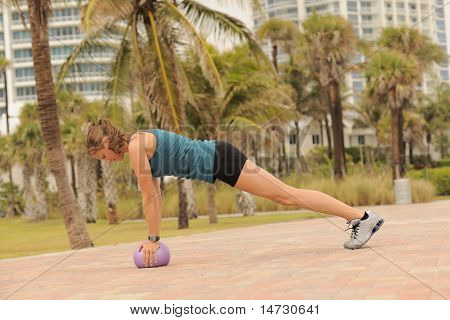 Plank Exercise In Park