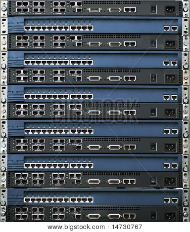 Stack Of Routers And Switches