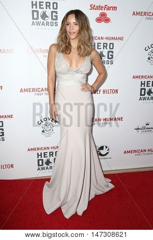 LOS ANGELES - SEP 10:  Katharine McPhee at the 2016 American Humane Hero Dog Awards at the Beverly Hilton Hotel on September 10, 2016 in Beverly Hills, CA