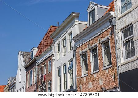 Row Of Old Houses In The Historical Center Of Zwolle