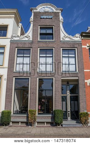 Decorated Facade On A Historical House In Zwolle