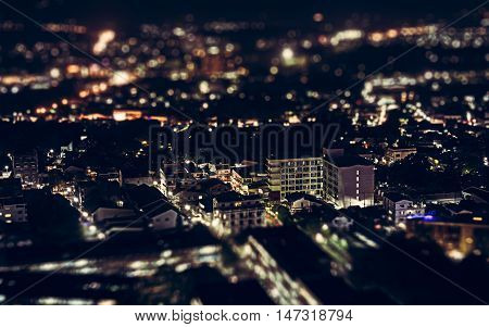 Night View Above Phuket Town