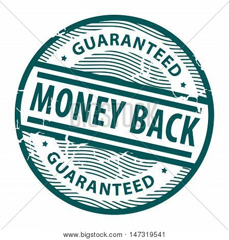 Grunge rubber stamp with the text Money Back written inside the stamp, vector illustration