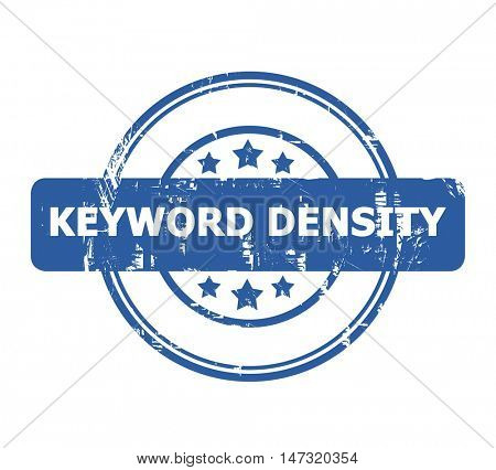 Keyword Density Stamp with stars isolated on a white background.
