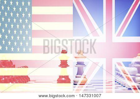 Chess game USA vs UK