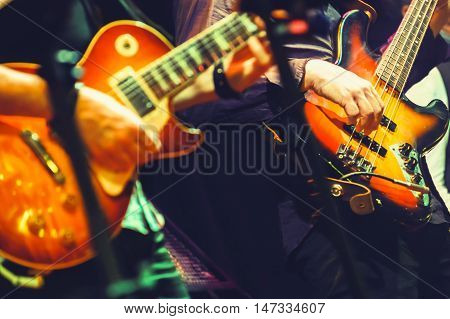 Colorful Rock And Roll Music Background