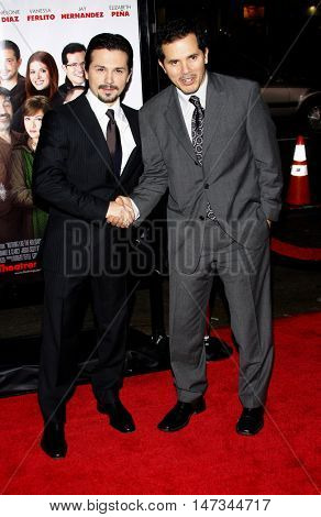 Freddy Rodriguez and John Leguizamo at the Los Angeles premiere of 'Nothing Like The Holidays' held at the Grauman's Chinese Theater in Hollywood, USA on December 3, 2008.