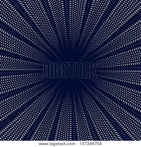 Moire pattern op art vector background. Hypnotic backdrop with geometric black lines. Abstract tiling.