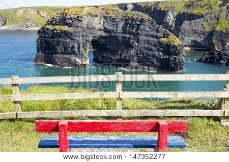 seat view of the virgin rock ballybunion on the wild atlantic way