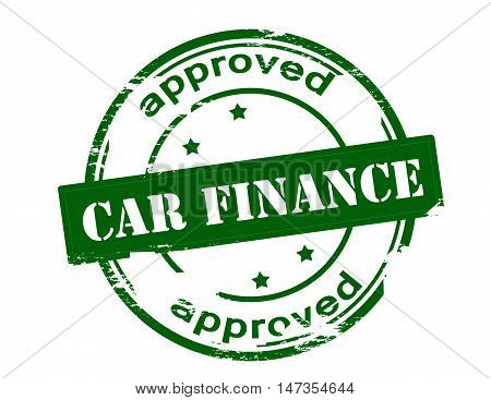 Rubber stamp with text car finance approved inside vector illustration