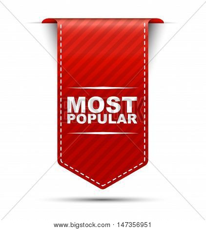 This is red vector banner design most popular