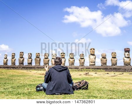 The Tourist Of Tongariki