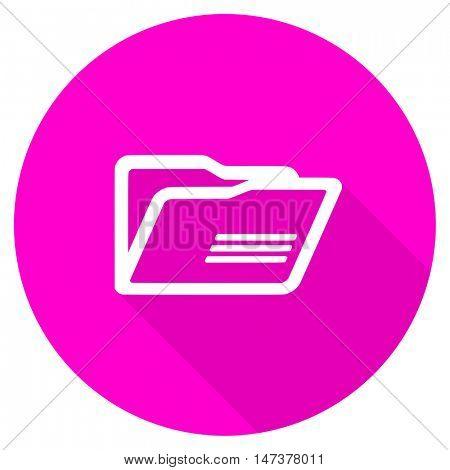 folder flat pink icon