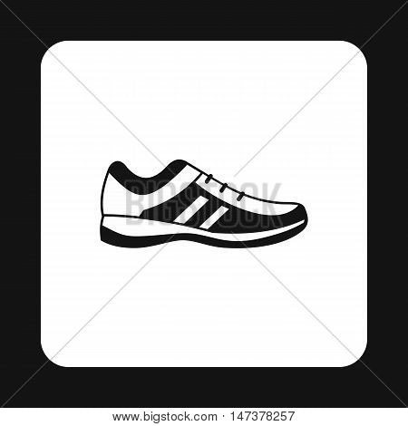 Mens sneakers icon in simple style isolated on white background. Wear symbol vector illustration
