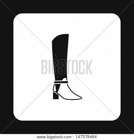 Womens high boots icon in simple style isolated on white background. Wear symbol vector illustration