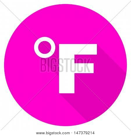fahrenheit flat pink icon