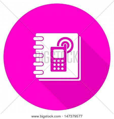 phonebook flat pink icon