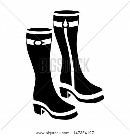Womens boots icon in simple style isolated on white background. Wear symbol vector illustration