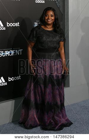 NEW YORK-MAR 16: Actress Octavia Spencer attends the U.S. premiere of