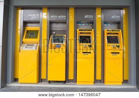 CHONBURI- Augsut 20 : Automatic Teller Machine ATM in Thailand on August 20 2016 in Chonburi Thailand.
