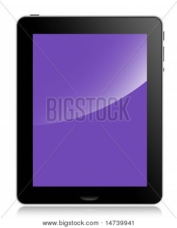 Tablet Computer or pad, purple screen