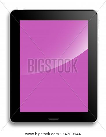Tablet Computer or pad, pink screen