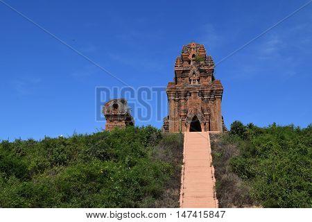 Ancient Brick Cham Banh It Tower And Pagoda
