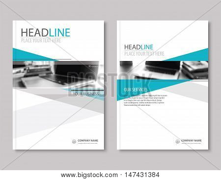 Annual report brochure flyer design template. Company profile business headline.Leaflet cover presentation flat background.
