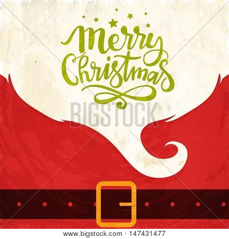 Creative greeting card design for Merry Christmas celebration.